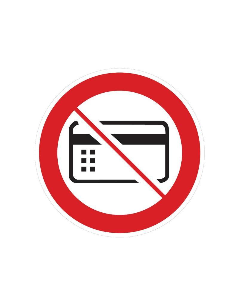 Magnetische kaarten verboden pegatina