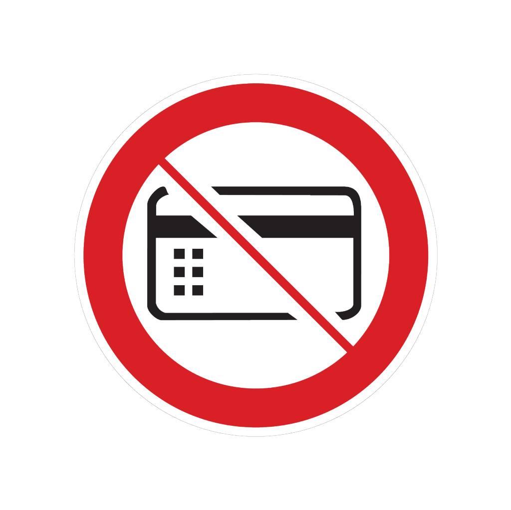 Magnetkarten verboten Sticker