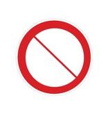 Autocollant signe d'interdiction