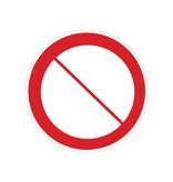 Prohibitions sign sticker