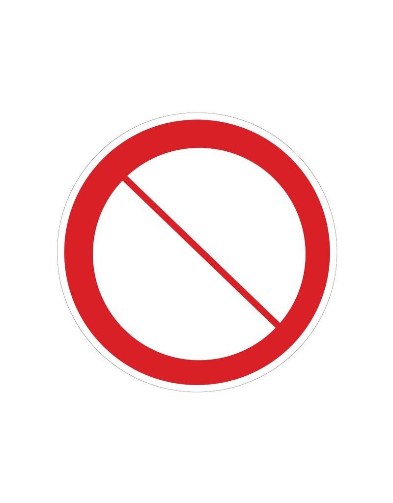 Verbotszeichen Sticker