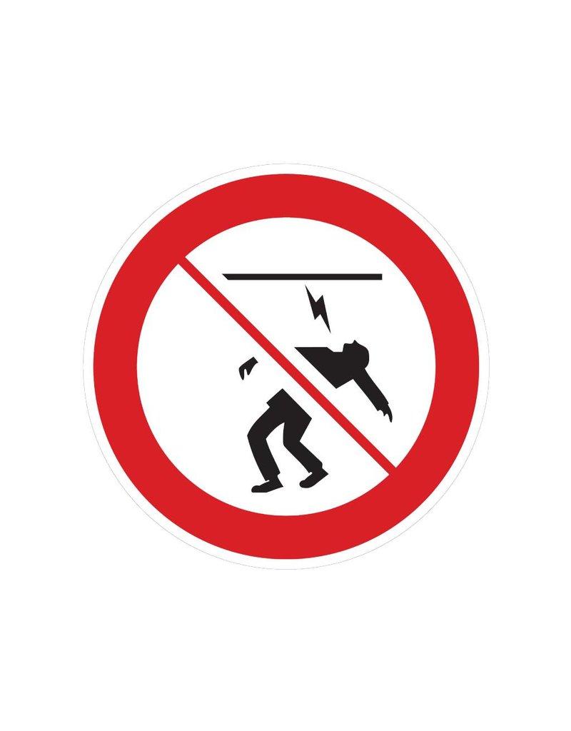 Aanraken van sterkstroomkabel verboden sticker