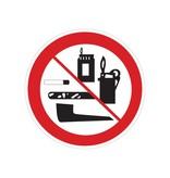 Los productos de tabaco, encendedores y fósforos están prohibidos