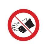 Port de gants est interdit autocollant