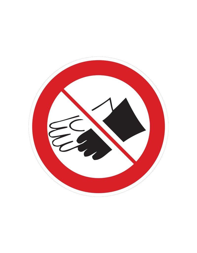 Forbidden to wear hand gloves Sticker