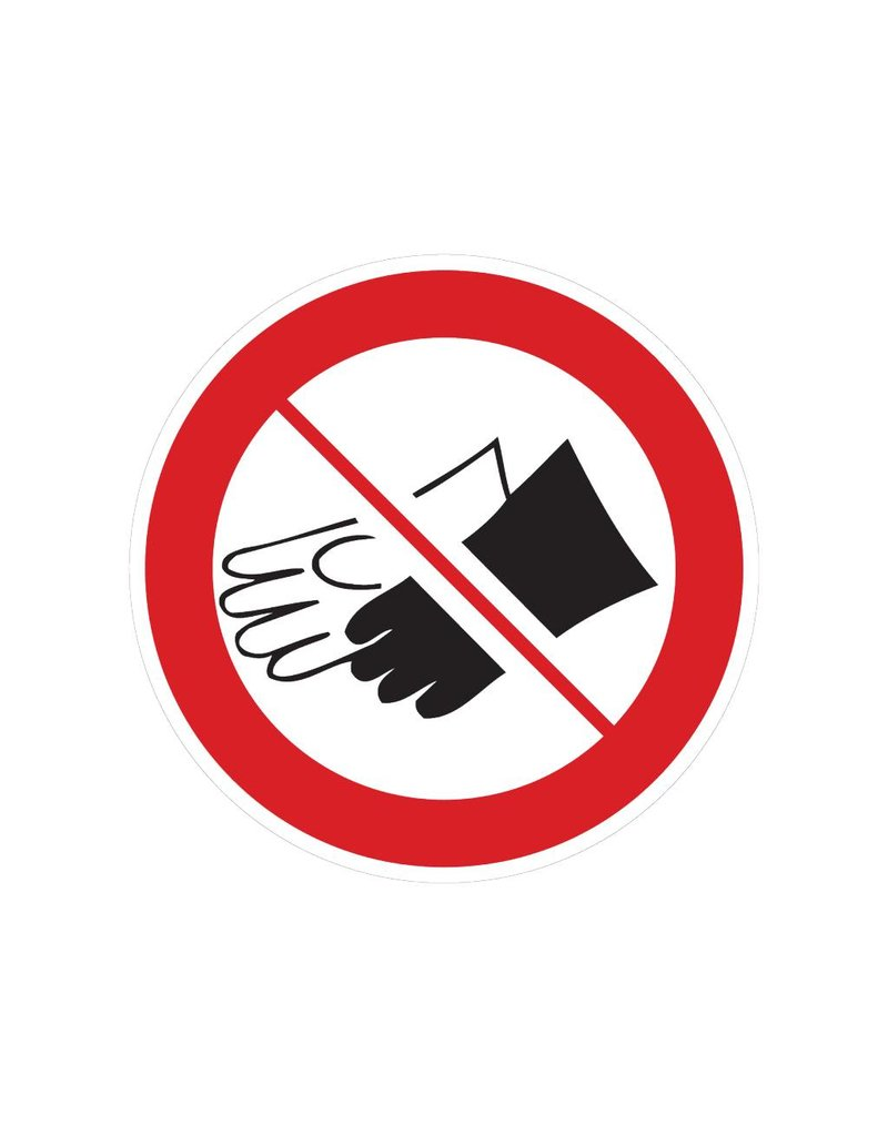 Guantes prohibidos pegatina