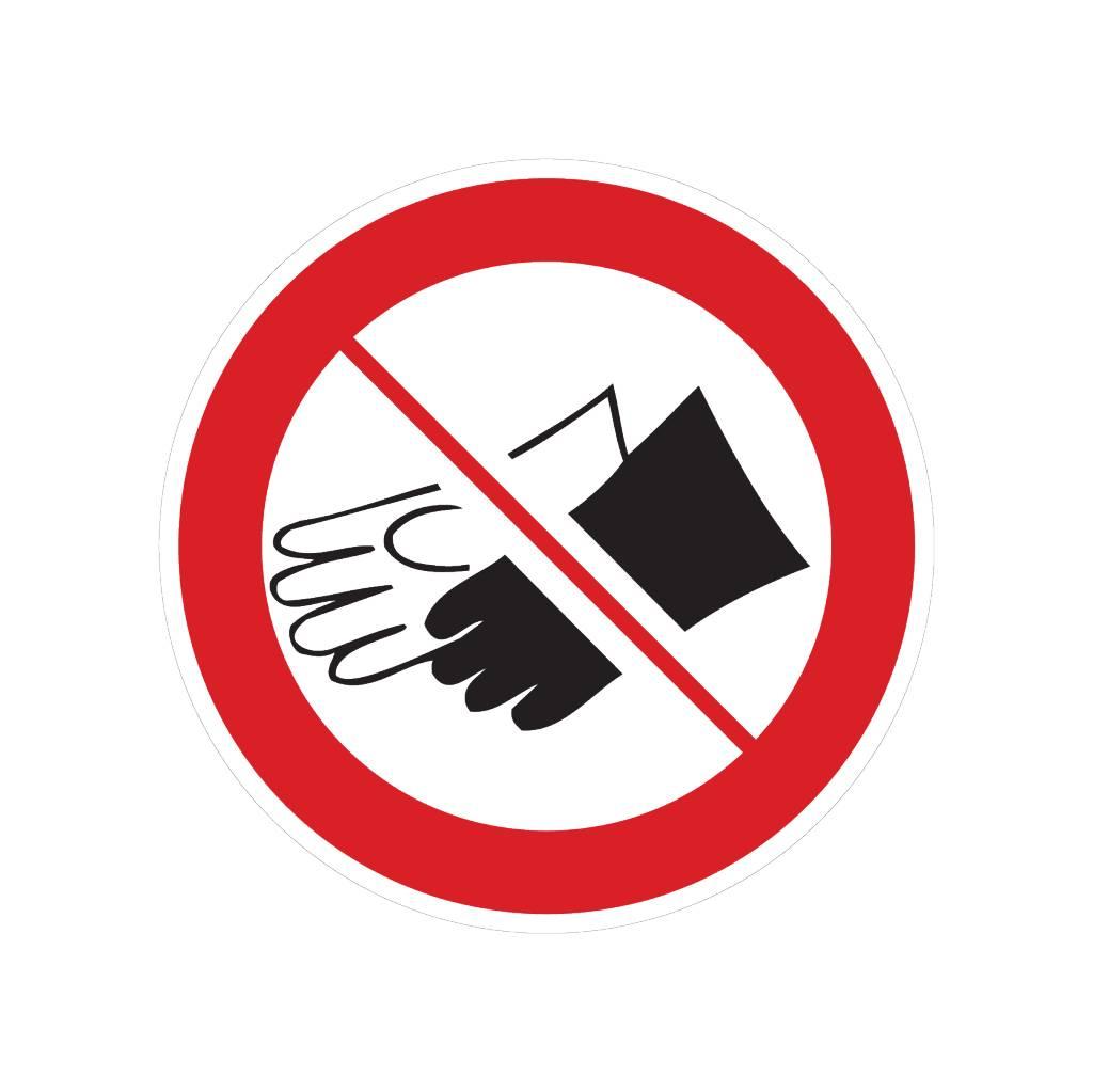 Dragen van handschoenen verboden sticker