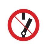 No interruptor pegatina