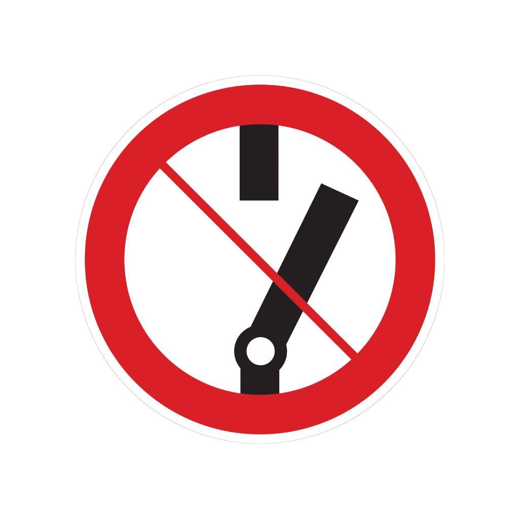 Ne pas coupler autocollant