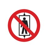 Personenvervoer verboden sticker