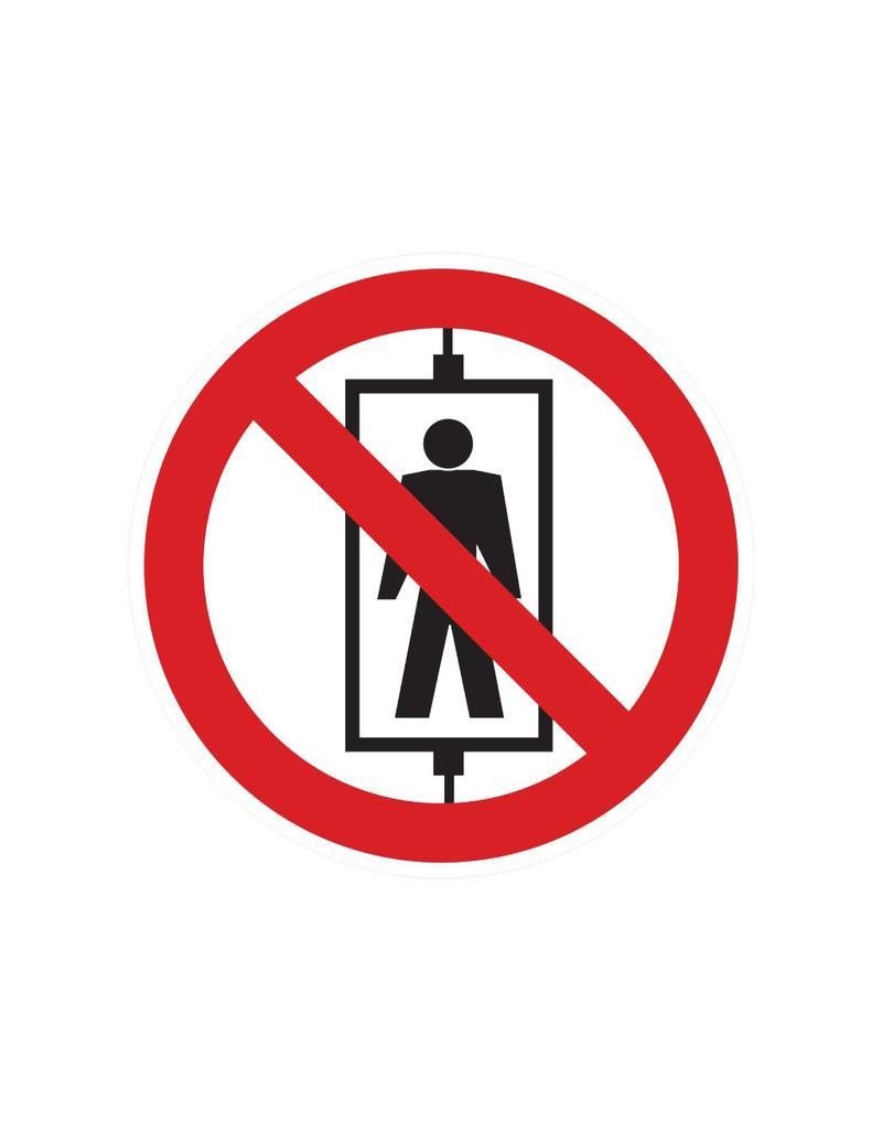 Personal Transport Prohibited Sticker