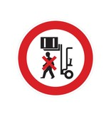Ne pas se tenir sous des charges soulevées autocollant
