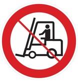 Interdit pour les véhicules industriels autocollant