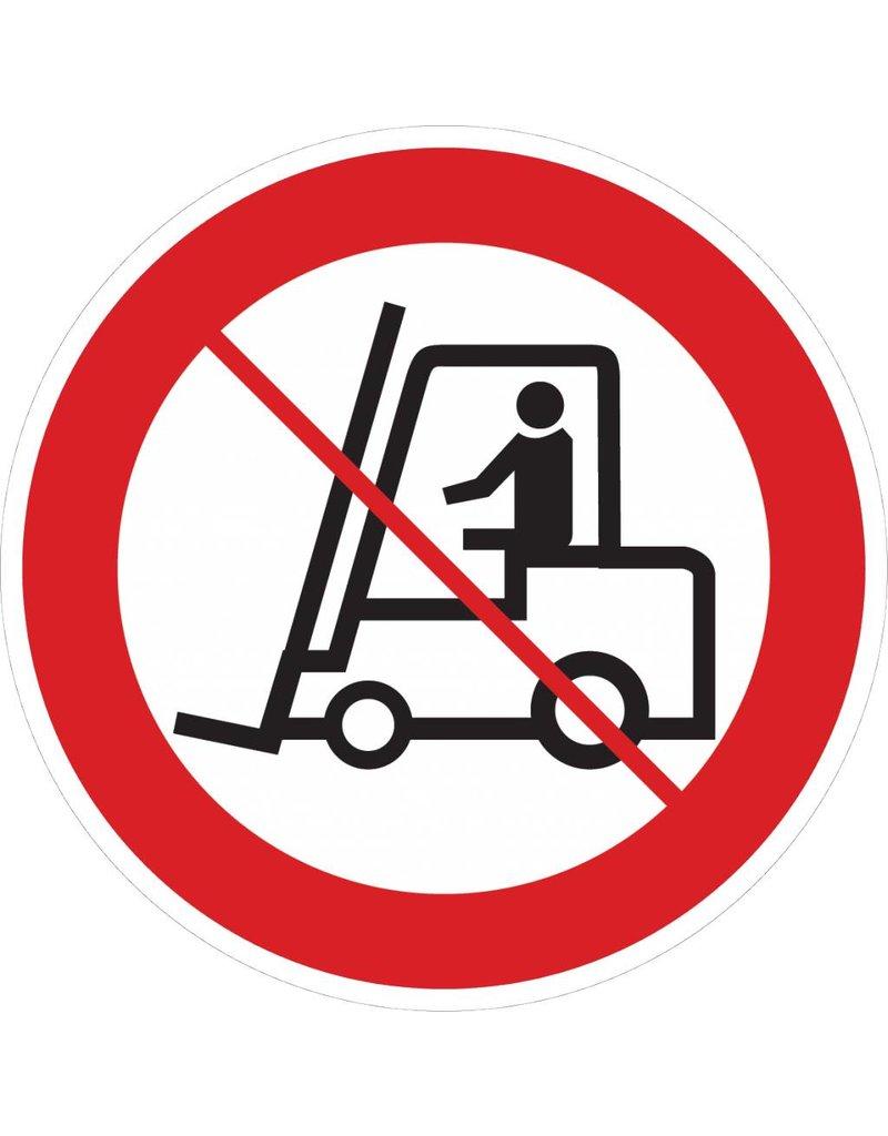 Prohibido para vehículos industriales pegatina