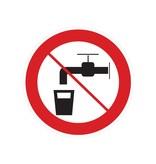 Pas d'eau potable autocollant