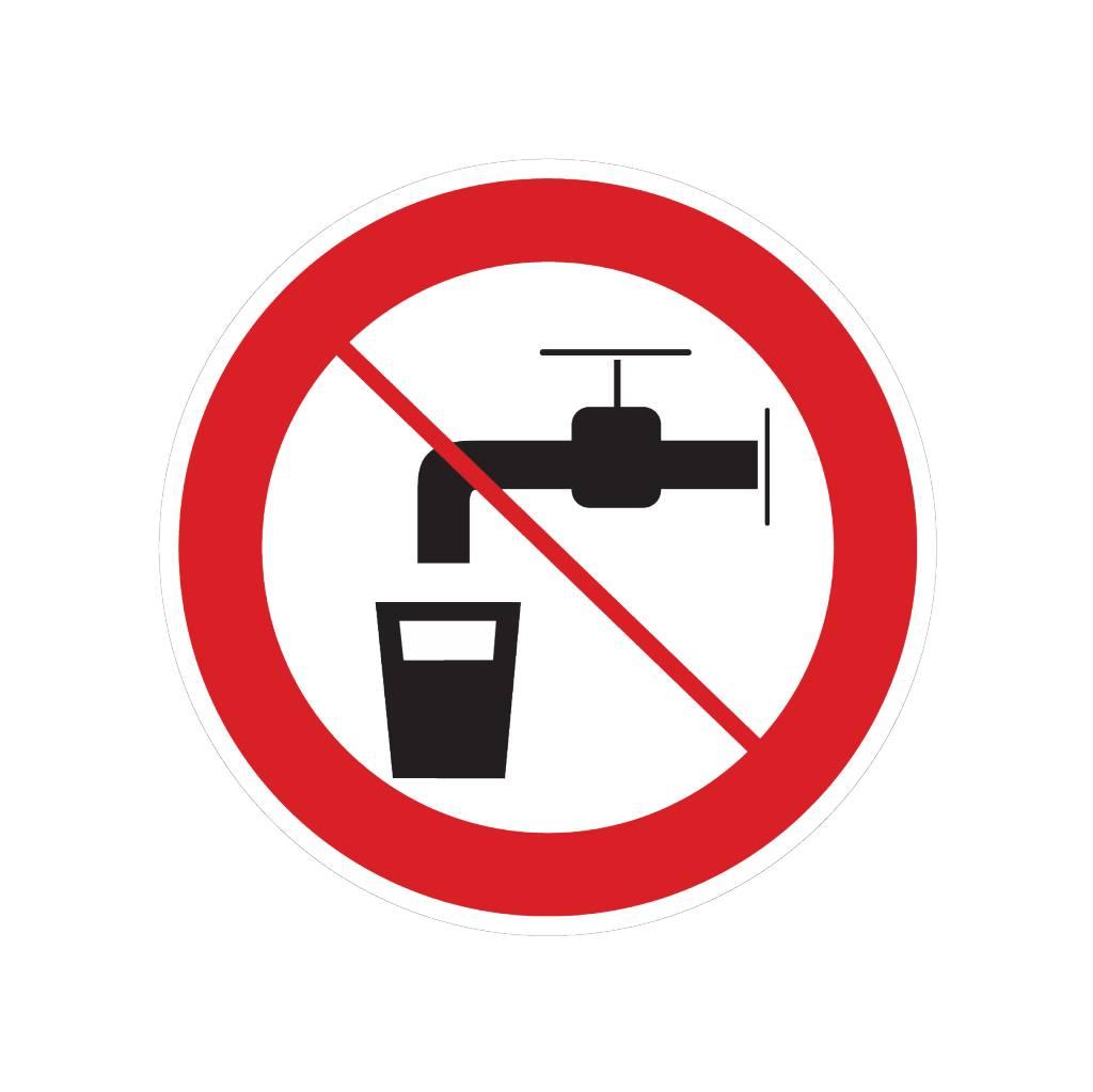No agua potable pegatina