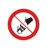 Verboden met water te blussen sticker