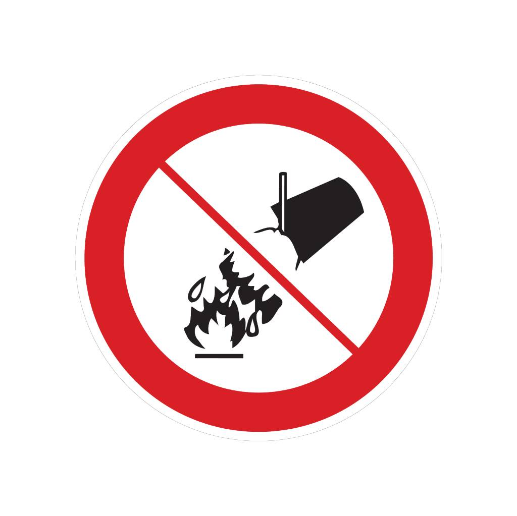 Verboten mit Wasser zu löschen Sticker