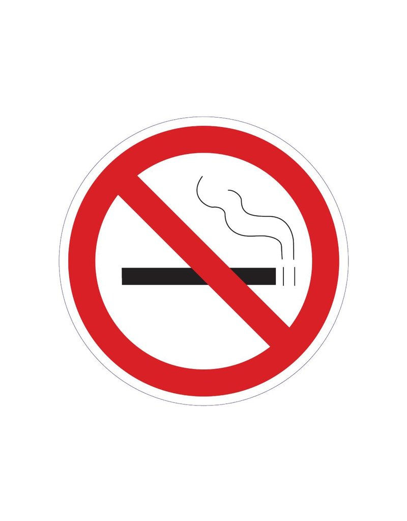 Roken Verboden 2 Sticker