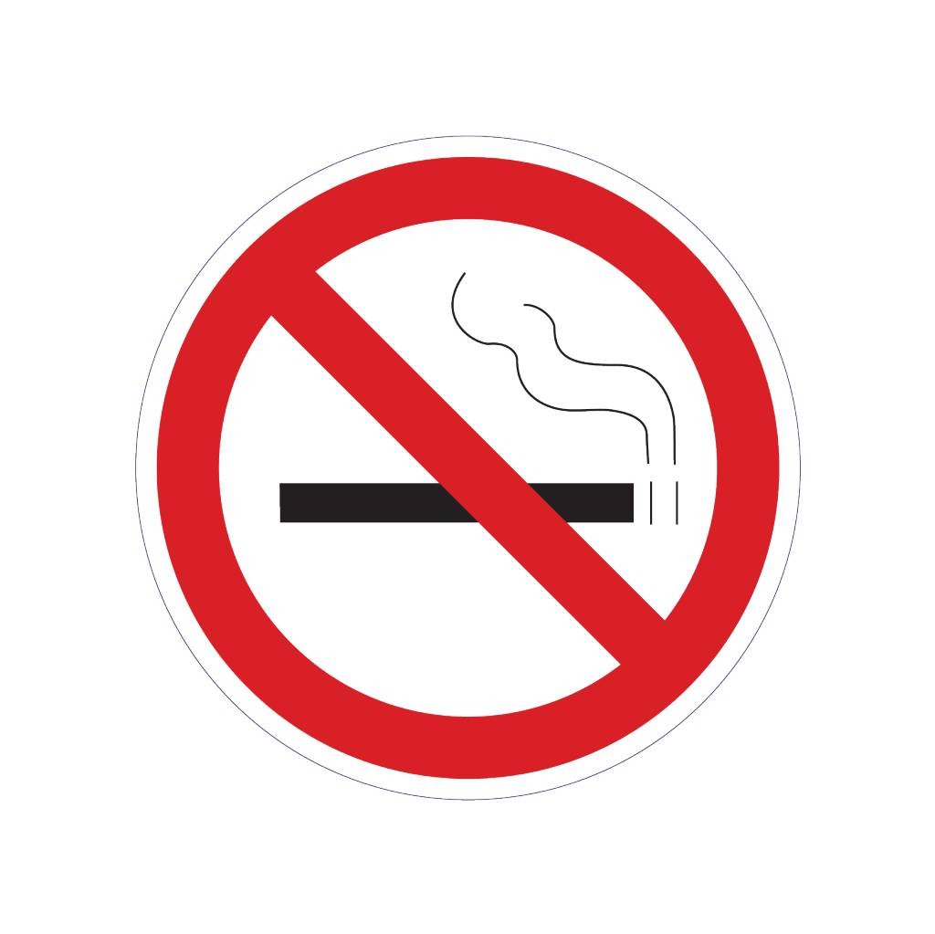 Fumar prohibido 2 pegatina
