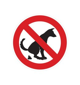 Forbidden to walk dogs sticker