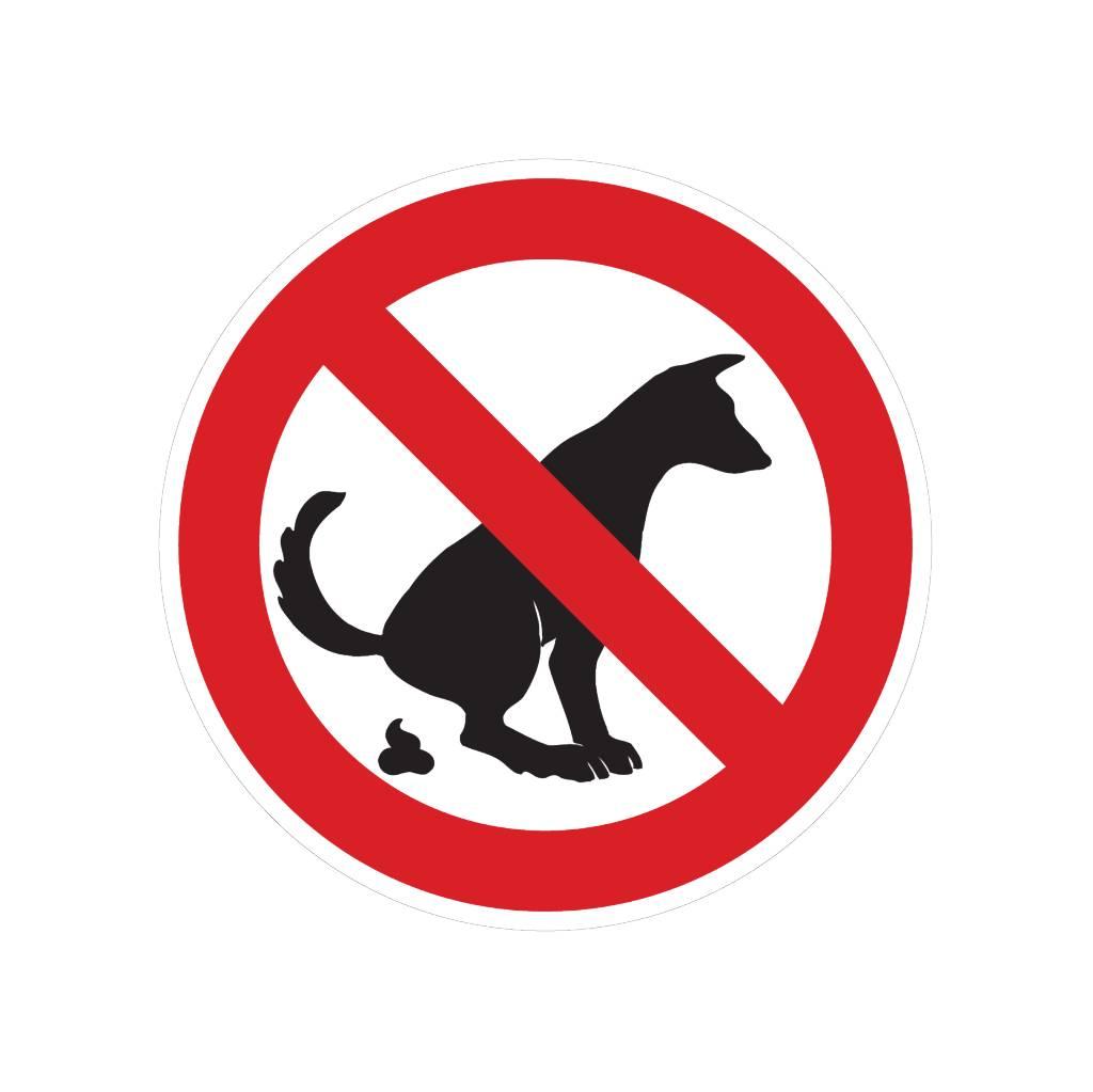 geen honden uitlaten sticker