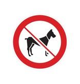 Interdit aux chiens autocollant