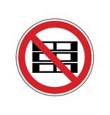 Forbidden to pile up Sticker