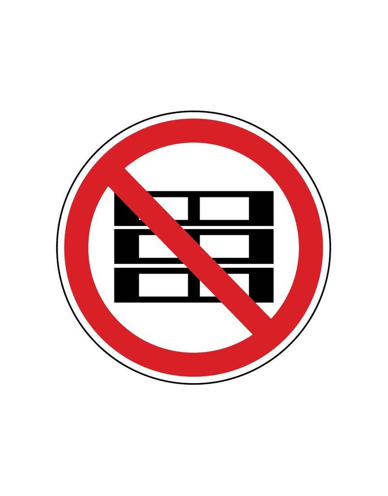 Stapelpaletten verboten Sticker