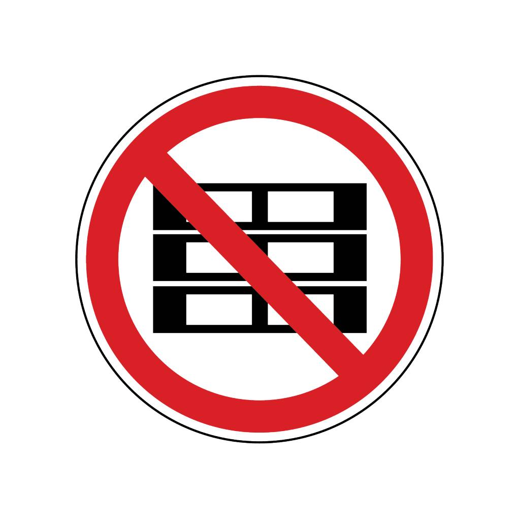 Verboden pallets te stapelen Sticker