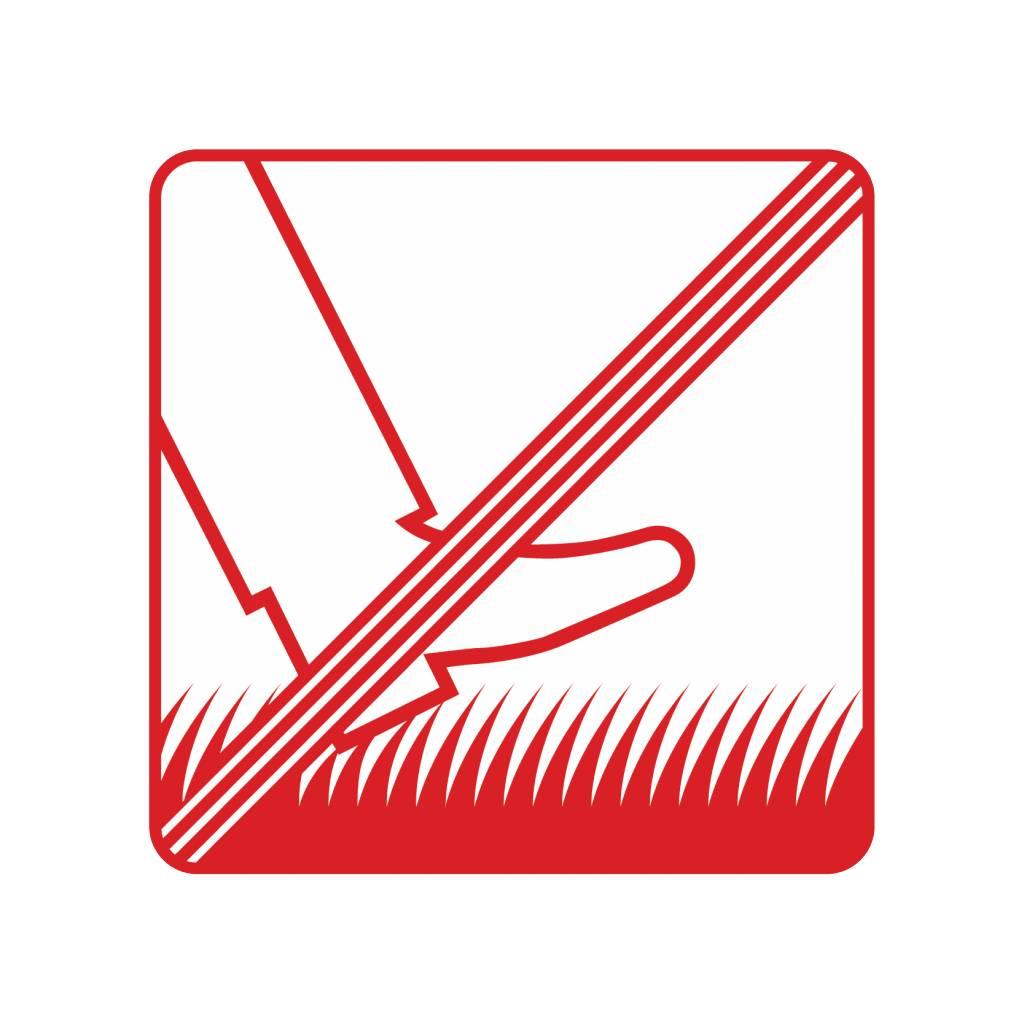 Verboden op het gras te lopen Sticker