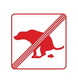 Forbidden to walk dogs 1 Sticker