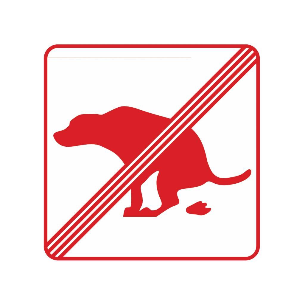 Pas de chiens sur1 autocollant