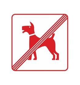 Chiens sont interdits autocollant