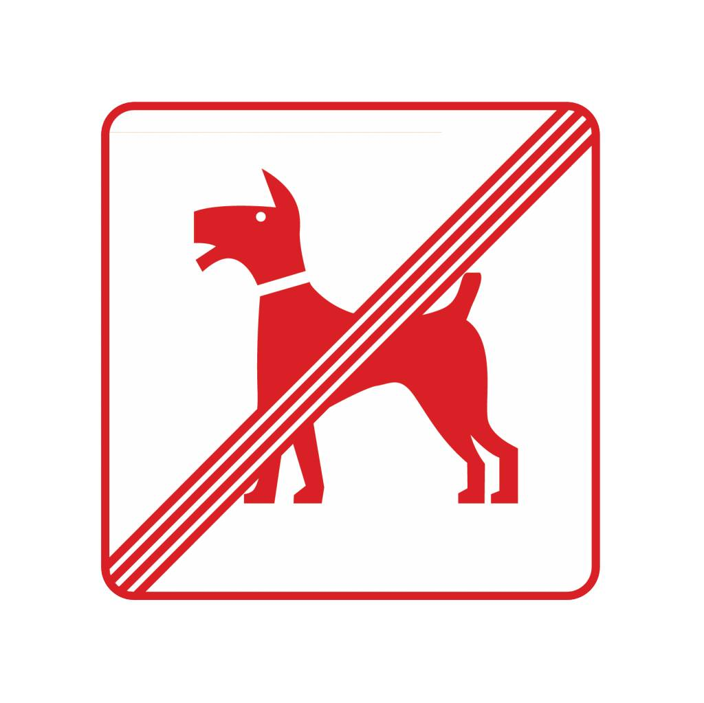 Hunde nicht erlaubt Sticker