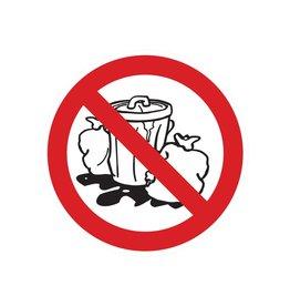 Müll deponieren verboten Sticker