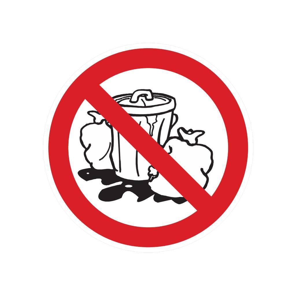 Forbidden to place garbage sticker