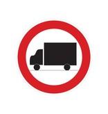 Verboten für Lastkraftwagen Sticker