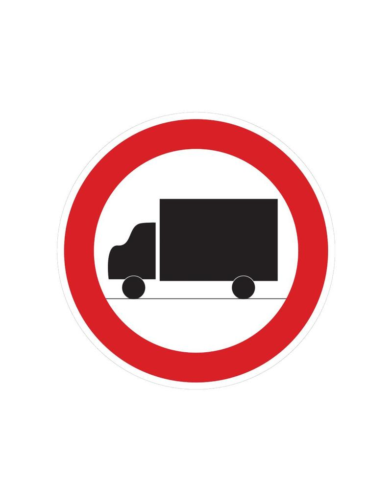 Forbidden for trucks sticker