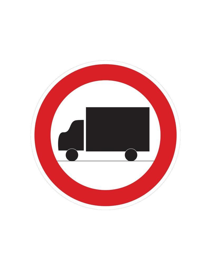 Verboden voor vrachtwagens sticker