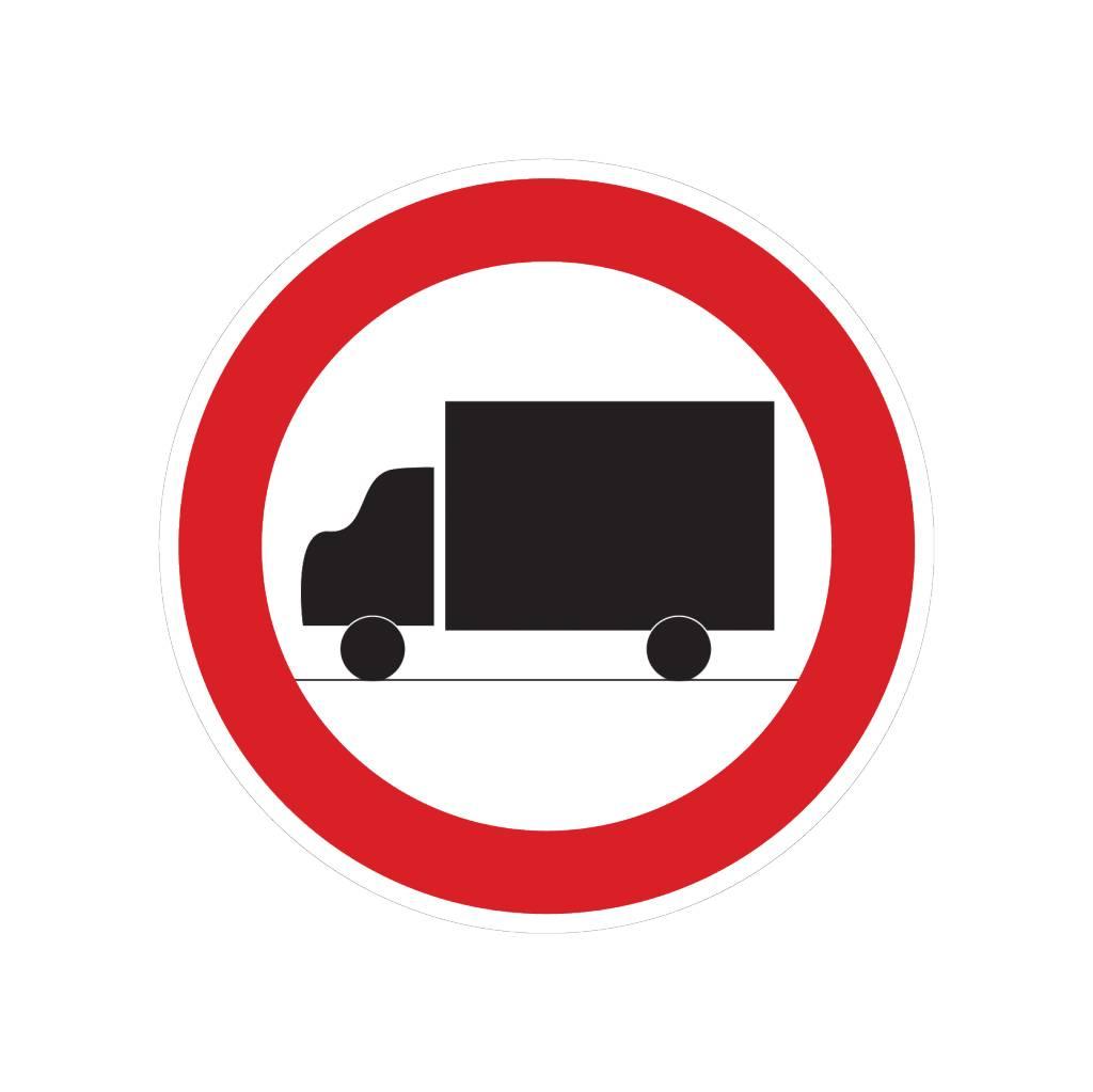 Interdiction pour les camions autocollant