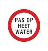 Pas op heet water sticker