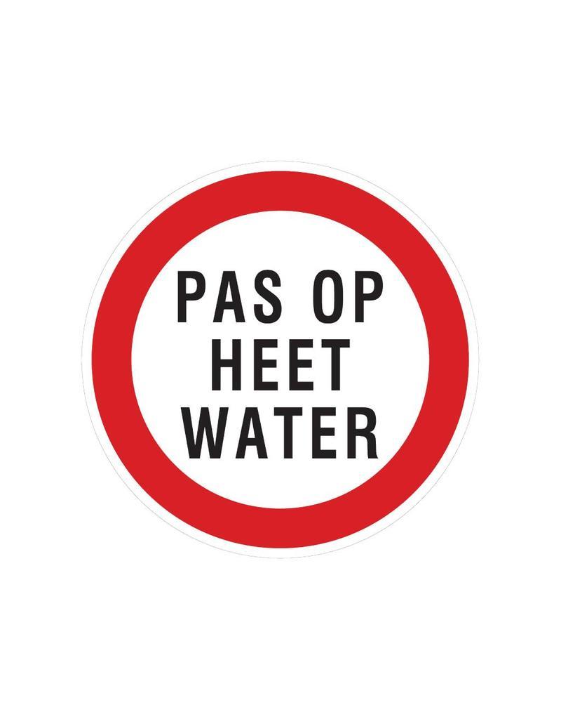 Vorsicht heißes Wasser Auskleber