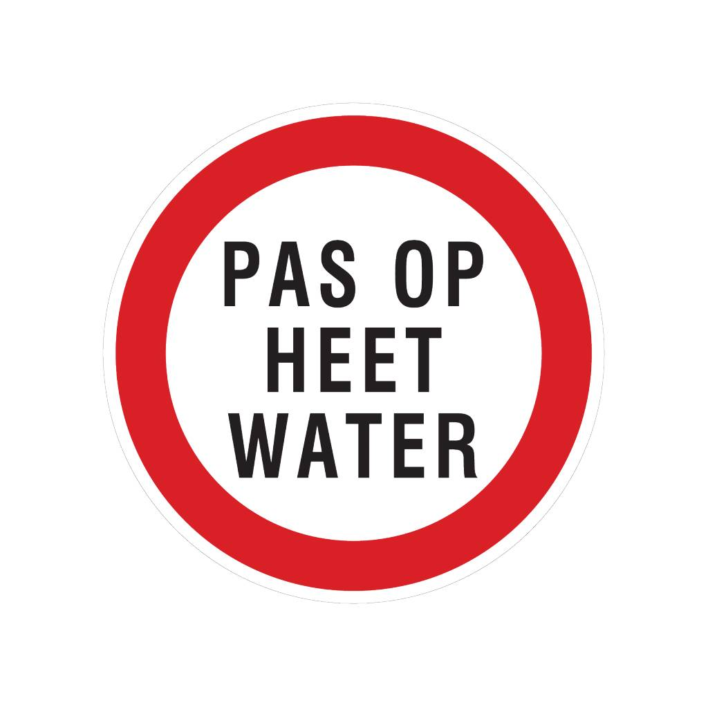 Attention hot water sticker
