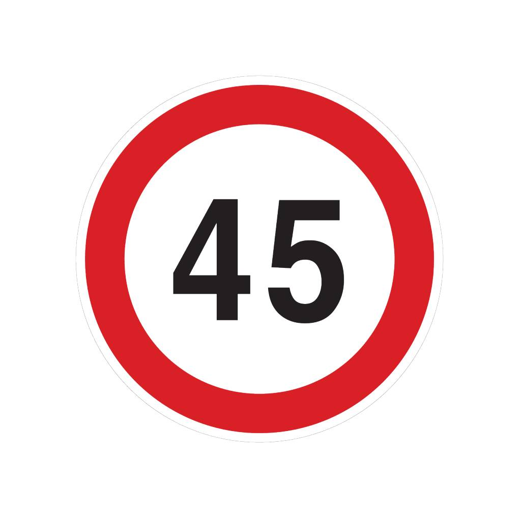 45 km sticker