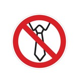 Bedienung mit Krawatte verboten Sticker