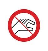 Verboden aan te raken sticker