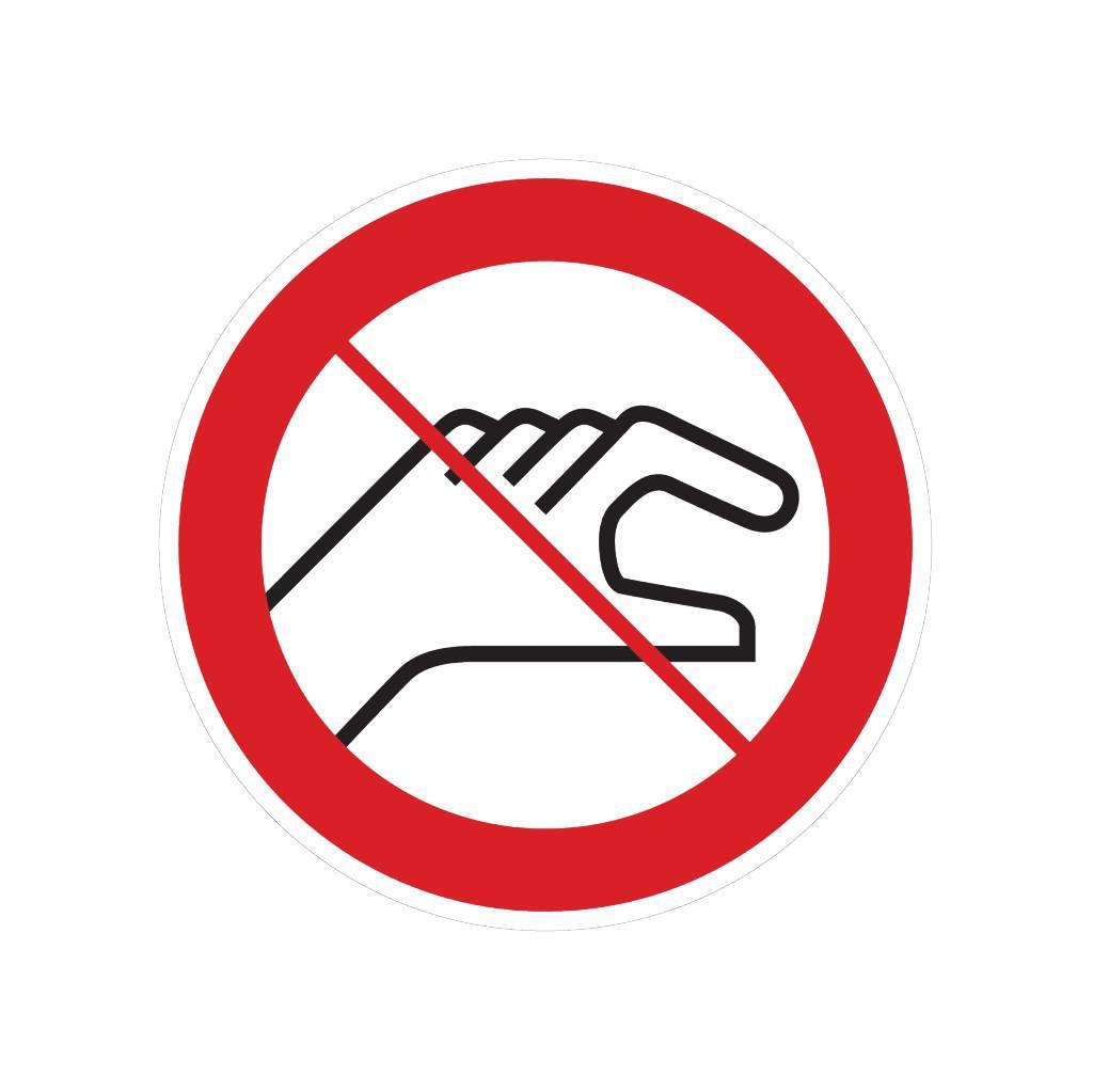 Ne pas toucher autocollant