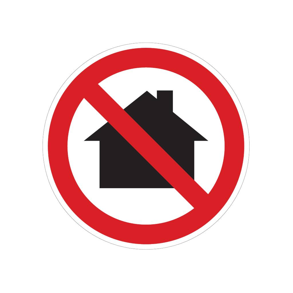 Prohibition on using in living areas