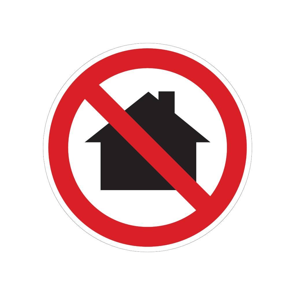 Verbot von Einsatz im Wohnbereich Sticker